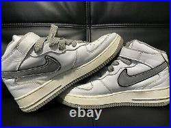 Nike EXTREMELY RARE Air Force 1 Mid Straps 2003 White Gray Sz 8 Best Price