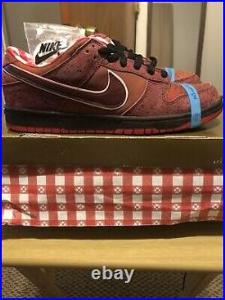 Nike SB X Cncpts Red Lobster Dunk Low Special Pack DS Sz 10 EXTREMELY RARE