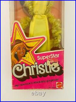 SuperStar Christie Barbie Doll 1976 African American AA Extremely Rare // IN BOX