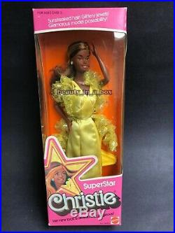 SuperStar Christie Barbie Doll 1976 No. 9950 African American AA Extremely Rare
