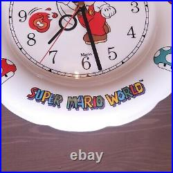 Super Mario World Musical Ceramic Wall Clock Extremely RARE! Tested, Works 1993
