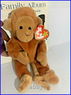 TY BEANIE BABY'BONGO' THE MONKEY withMAJOR TAG ERRORS EXTREMELY RARE RETIRED