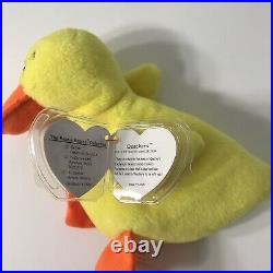 TY Beanie Baby Quackers the Duck 1994 PVC TAG ERRORS EXTREMELY RARE