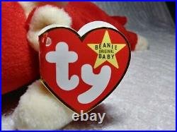 TY Beanie Baby Snort the Bull 1995 1st Ed Red RETIRED Orig Errors Extremely RARE