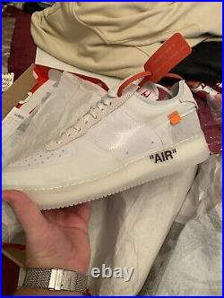 The 10 Nike X Off-White Air Force 1 OG White UK11/US12 Extremely Rare