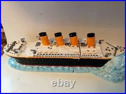 Titanic Cookie Jar 1998 Enesco New In Box Extremely Rare And Beautiful