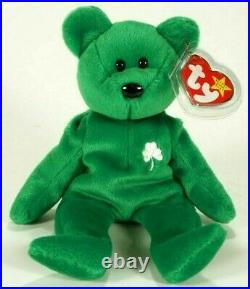 Ty Beanie Babies Erin The Irish Bear Extremely Rare With Errors MT VTG 1997 EUC