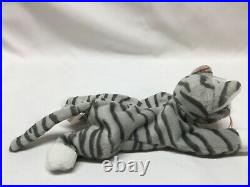 Ty Beanie Babies Prance the Gray Cat PVC EXTREMELY RARE Gracie Swing Tag