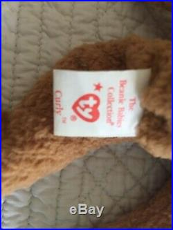 Ty Beanie Baby ORIGiiNAL CURLY- EXTREMELY RARE EXCELLENT CONDITION
