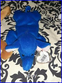 Ty beanie babies extremely rare Chilly, Royal Blue Peanut and Humphrey