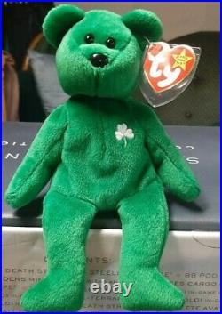 Very Extremely Rare Erin Bear Ty Beanie Baby 1997 Retired 1st Edition Great