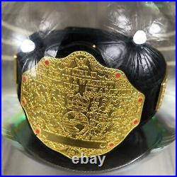 WWE Smackdown Christmas Glitter Water Snow Globe 2013 Extremely Rare Title Belt