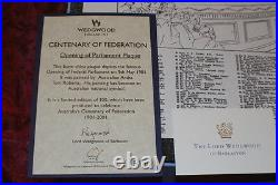 Wedgwood Centenary of Federation Plaque EXTREMELY RARE SIGNED by LORD WEDGWOOD